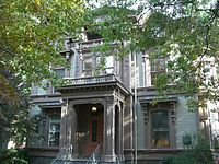 The Graves-Dwight mansion on Hillhouse Avenue