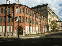 Site of the Winchester Repeating Arms Company, which has since 1981 been converted to Science Park at Yale, a complex for start-ups and technological firms