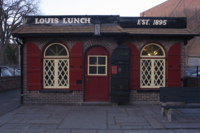 Louis' Lunch, where the hamburger was reputedly invented in 1900