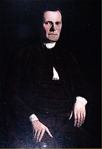 A portrait of Roger Sherman, signer of the Declaration of Independence and the U.S. Constitution, author of the Connecticut Compromise, and the first mayor of New Haven