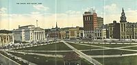 The historic New Haven Green, ca. 1919