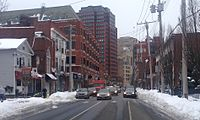 Whitney Avenue, one of downtown New Haven's principal commercial corridors