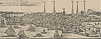 New Haven as it appeared in a 1786 engraving