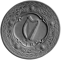 The seal of the President of Ireland, incorporating a harp