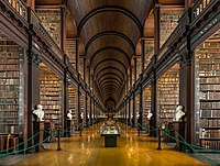The longroom at the Trinity College Library