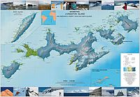 Topographic map of Livingston Island, Greenwich, Robert, Snow and Smith Islands.