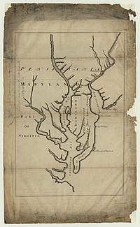 1732 map of Maryland