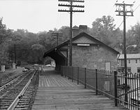 Ellicott City Station, on the original B&O Railroad line, is the oldest remaining passenger station in the United States. The rail line is still used by CSX Transportation for freight trains, and the station is now a museum.
