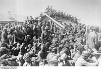 Overcrowded transit camp near Smolensk, Russia. August 1941