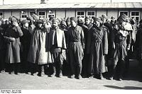 Soviet prisoners of war in Mauthausen concentration camp. October 1941