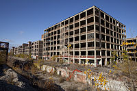 The former Packard Automotive Plant, closed since 1958