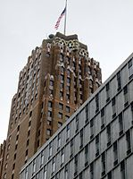 The Guardian Building serves as the headquarters of Wayne County