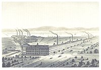 The Singer Sewing Machine Company's factory at Elizabethport, ca. 1876