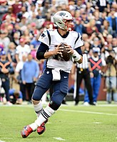 Brady in a game against the Washington Redskins