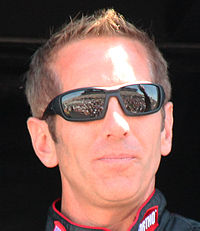 Greg Biffle (pictured in 2015) finished in third place after battling for the lead in the race's mid-point.