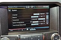 Export-spec RHD Mustang's Sync2 interface, without navigation