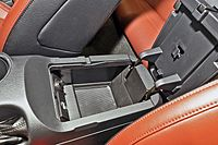 USB jack and SD card slot inside Mustang's center console storage