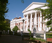 Houses of Parliament in Cape Town, seat of the legislature