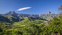 Drakensberg, the eastern and highest portion of the Great Escarpment which surrounds the east, south and western borders of the central plateau of Southern Africa