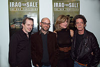 Buscemi and Lou Reed at a screening of the film Iraq for Sale: The War Profiteers, 2006