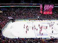 O2 Arena in Prague is the second-largest ice hockey arena in Europe