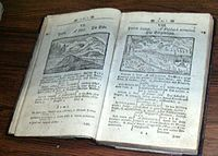 Orbis Pictus, a children's textbook with illustrations published in 1658.