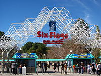 Entrance to Six Flags Magic Mountain in 2014.