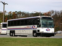 Short Line Bus provides most local and commuter bus service.