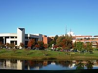 George Mason University, the largest university in the state by student population.