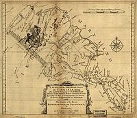 Map of the Northern Neck Proprietary land grant c. 1737