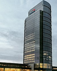 Capital One Tower in Tysons, the tallest building in the Washington metro area and centerpiece of the 5000000 sqft headquarters campus for Capital One.