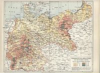 Distribution of Jews in Imperial Germany