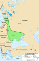 The Eastern Front at the time of the cease-fire and the Treaty of Brest-Litovsk