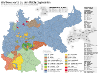 Election constituencies for the Reichstag