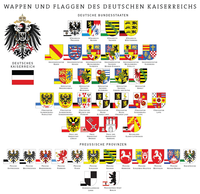 Coat of arms and flags of the constituent states in 1900