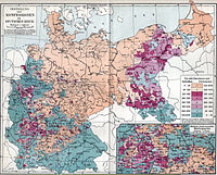 Distribution of Protestants and Catholics in Imperial Germany