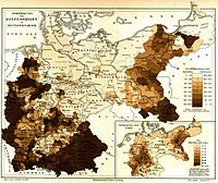 Distribution of Protestants, Catholics and Jews in Imperial Germany (Meyers Konversationslexikon)