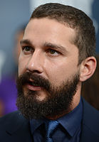 LaBeouf at the premiere of Fury in 2014