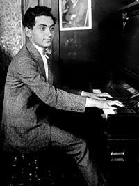 Berlin at his first job with a music publisher, aged 18