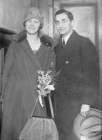With wife Ellin, c. 1920s