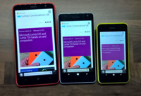 The Nokia Lumia 1320, the Microsoft Lumia 535 and the Nokia Lumia 530, which all run on one of the now-discontinued Windows Phone operating systems