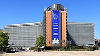 Headquarters of the European Commission, which has imposed several fines on Microsoft