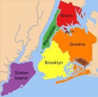 The five boroughs of New York City: