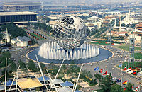 Flushing Meadows–Corona Park was used in both the 1939 and 1964 New York World's Fair, with the Unisphere as the centerpiece of the latter and which remains today.