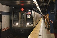 The New York City Subway is the world's largest rapid transit system by number of stations.
