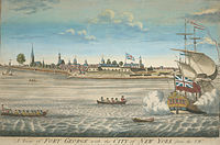 Fort George and the city of New York c. 1731