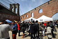 Smorgasburg opened in 2011 as an open-air food market and is part of the Brooklyn Flea.