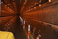 Queens-Midtown Tunnel after flooding caused by Hurricane Sandy on October 29, 2012.