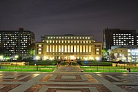 Butler Library at Columbia University, described as one of the most beautiful college libraries in the United States.