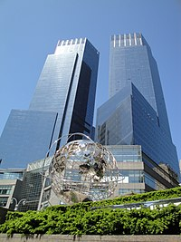 The Time Warner Center as viewed from Central Park West.